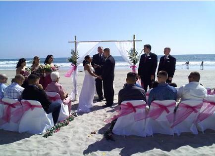 Bamboo Arbor Coronado Beach Wedding Bowl La Jolla